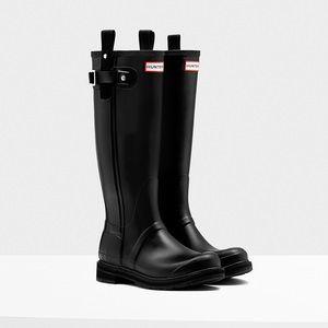 Hunter original tall pulltab wellington blk boots